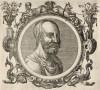 Руфус Фестус Авиено (IV век н.э.) -- древнеримский историк (лист 24 иллюстраций к известной работе Medicorum philosophorumque icones ex bibliotheca Johannis Sambuci, изданной в Антверпене в 1603 году)