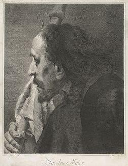 Апостол Иаков Зеведеев. Гравюра Марко Питтери по оригиналу Джованни Баттиста Пьяцетта, 1742 год.