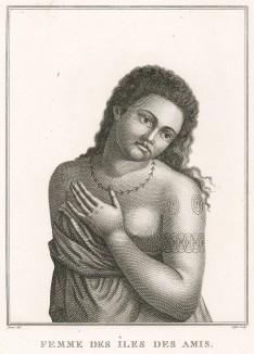 Красавица с острова Амбон (Молуккские острова). Atlas pour servir à la relation du voyage à la recherche de La Pérouse, л.30. Париж, 1800