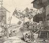 Характеры и карикатуры, 1743. Подписной билет на оплату знаменитой серии Хогарта «Модный брак». Внизу ссылка на предисловие к новелле Генри Филдинга «Джозеф Эндрюс», где автор рассуждает о гранях комического в «характере» и «карикатуре». Лондон, 1838