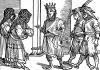Султан из Гоа. Иллюстрация Йорга Бреу Старшего к описанию путешествия на восток Лодовико ди Вартема: Ludovico Vartoman / Die Ritterliche Reise. Издал Johann Miller, Аугсбург, 1515