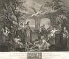 Озеро Бетесда, 1736. Хогарт рисует картину на библейский сюжет о священном озере для госпиталя Святого Варфоломея. С картины он сам делает гравюру. А в 1748 г. гравёр Равене использует рисунок Хогарта для фронтисписа к Семейной Библии. Лондон, 1838