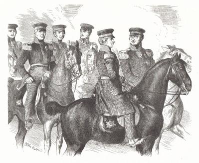 Прусские полководцы - победители Наполеона. Preussens Heer, стр.71. Берлин, 1876
