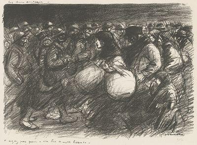 Две процессии. Литография Теофила-Александра Стейнлена, 1916 год.