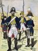1803-05 гг. Офицер и нижние чины лейб-гренадерского полка Великого герцогства Баден. Коллекция Роберта фон Арнольди. Германия, 1911-29