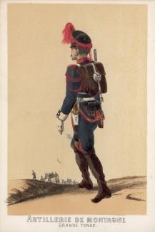 1860-е гг. Горный артиллерист армии Испании в парадной форме (из альбома литографий L'Espagne militaire, изданного в Париже в 1860 году)