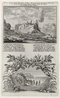 1. Моисей выводит израильтян из египетского плена 2. Моисей и израильтяне в пустыне (из Biblisches Engel- und Kunstwerk -- шедевра германского барокко. Гравировал неподражаемый Иоганн Ульрих Краусс в Аугсбурге в 1700 году)