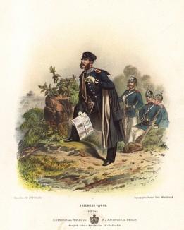 Офицер инженерного корпуса прусской армии в униформе образца 1870-х гг. Preussens Heer. Берлин, 1876