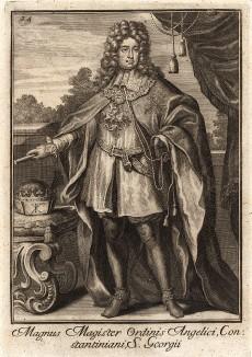 Великий магистр ордена Святого Константина Великого. В 330 г. император Константин учредил первый в истории орден в честь византийского воина и священника Георгия, казнённого в 303 г.  после жестоких пыток.