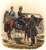Офицеры частей снабжения прусской армии в униформе образца 1870-х гг. Preussens Heer. Берлин, 1876