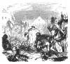 Семилетняя война 1756-1763 гг. Пруссаки празднуют победу в сражении при Торгау 4 ноября 1760 года. Илл. Адольфа Менцеля. Geschichte Friedrichs des Grossen von Franz Kugler. Лейпциг, 1842, с.471