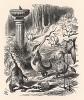 Варкалось. Хливкие шорьки пырялись по наве (иллюстрация Джона Тенниела к книге Льюиса Кэрролла «Алиса в Зазеркалье», выпущенной в Лондоне в 1870 году)
