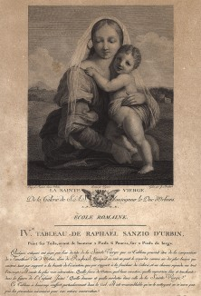 Мадонна с младенцем. Galérie du Palais Royal gravée d'après les tableaux des différentes ecoles... Париж, 1786