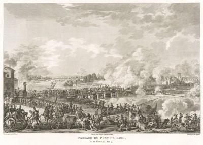 Битва при Лоди 10 мая 1796 г. Tableaux historiques des campagnes d'Italie depuis l'аn IV jusqu'á la bataille de Marengo. Париж, 1807