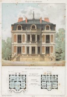 Современная архитектура в западном предместье Парижа Гарш (из популярного у парижских архитекторов 1880-х Nouvelles maisons de campagne...)