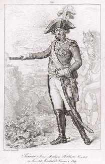 Жан Матье Филибер Серюрье (1742-1819), почетный маршал Франции с 1804 года. Galerie des Marechaux de France par Ch. Gavard, Париж, 1839 год.