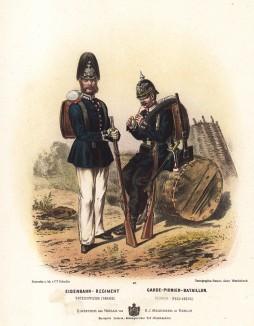 Солдаты инженерных частей прусской армии в униформе образца 1870-х гг. Preussens Heer. Берлин, 1876