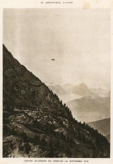 Перевал Симплон, 23 сентября 1910 г. Хорхе Чавес (1887-1910) - первый лётчик, совершивший перелет через Альпы. L'аéronautique d'aujourd'hui. Париж, 1938