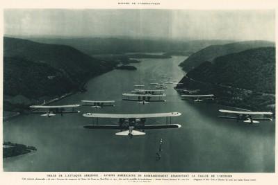 Манёвры военно-воздушных сил США над Гудзонским заливом в 1931 году. L'аéronautique d'aujourd'hui. Париж, 1938