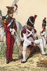 1811 г. Улан 2-го (красного) полка и гренадер голландского полка гвардии императора Наполеона. Коллекция Роберта фон Арнольди. Германия, 1911-29