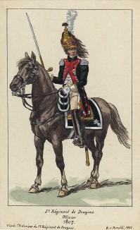 1807 г. Кавалерист 7-го драгунского полка французской армии. Коллекция Роберта фон Арнольди. Германия, 1911-28