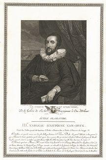 Томас Ховард, 21-й граф Арундел (1586-1646) авторства Антониса ван Дейка. Лист из знаменитого издания Galérie du Palais Royal..., Париж, 1808