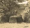 Могила В. А. Жуковского (умер 12 (24 апреля) 1852 года) на Тихвинском кладбище Александро-Невской лавры в Санкт-Петербурге (Русский художественный листок. № 31 за 1853 год)