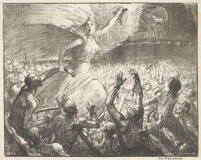 """Освободительница"" Теофила-Александра Стейнлена, 1903 год."