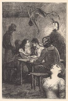 """Пятнадцатый лист серии """"Бельфорский лев"""" Макса Эрнста, входящей в роман-коллаж """"Une Semaine de bonté"""" (Неделя доброты), 1934 год."""