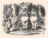Они стояли под деревом, обняв друг друга за плечи (иллюстрация Джона Тенниела к книге Льюиса Кэрролла «Алиса в Зазеркалье», выпущенной в Лондоне в 1870 году)