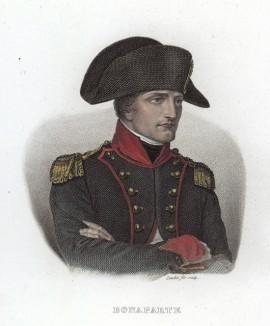 Поясной портрет Первого консула Французской республики Наполеона Бонапарта. Гравюра на стали. Париж, 1827