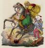 Гибель шейха Мессауда (иллюстрация к L'Africa francese... - хронике французских колониальных захватов в Северной Африке, изданной во Флоренции в 1846 году)