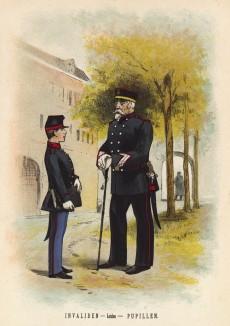 Воспитанник и пансионер Дома ветеранов голландской армии в Лейдене (иллюстрация к работе Onze krijgsmacht met bijshriften... (голл.), изданной в Гааге в 1886 году)