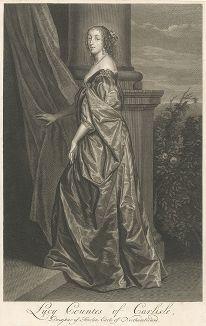 Леди Люси, графиня Карлайл (1599-1660) с оригинала Антониса ван Дейка.