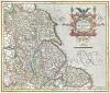 Карта Йоркшира, Линкольншира и других английских герцогств. Eboracum, Lincolnia, Derbia, Staffordia, Notinghamia, Lecestria, Rutlandia et Norfolcia. Составили Герхард Меркатор и Хенрикус Хондиус. Амстердам, 1630