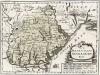 Карта Бессарабии с указанием мест основных сражений русско-турецкой войны 1768-1774 гг. Die landschaft Bessarabien. Атлас Франца Иоганна фон Райли, л.11. Вена, 1789