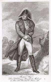 Мишель Ней (1769-1815), маршал Франции с 1804 года. Galerie des Marechaux de France par Ch. Gavard, Париж, 1839 год.