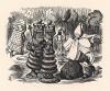 Фигуры важно разгуливали по коврику парами! (иллюстрация Джона Тенниела к книге Льюиса Кэрролла «Алиса в Зазеркалье», выпущенной в Лондоне в 1870 году)