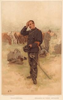 Капрал учебного подразделения швейцарской артиллерии (из альбома хромолитографий L' Armée Suisse... Цюрих. 1894 год)