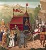 Царь Саргон II (722-705 до н.э.) отправляет в Мидию десять племён израилевых, взятых им в плен, среди прочих старший сын Иосифа и его жена египтянка (из Les arts somptuaires... Париж. 1858 год)