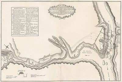 План преследования за неприятелем Корпусом господина генерала Квартермистера Бауера до реки Дуная 21 июля с четвертого часу по полудни из занятого лагеря по победе над неприятелем при речке Кагуле на котором назначен и прежней... 1770 году июля 23 дня.