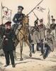 Зимняя униформа пехотинцев и кавалеристов Ганзейского легиона в 1813-14 гг. Uniformenkunde Рихарда Кнотеля, л.38. Ратенау (Германия), 1890