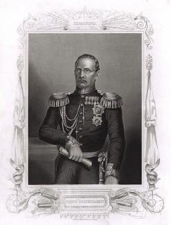 Князь Михаил Дмитриевич Горчаков (1793-1861). Генри Тиррелл, The history of the war with Russia. Лондон, 1856