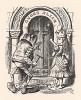 """""""Где привратник? - гневно начала она. - Почему никто не подходит к двери?"""" (иллюстрация Джона Тенниела к книге Льюиса Кэрролла «Алиса в Зазеркалье», выпущенной в Лондоне в 1870 году)"""