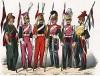 Униформа французских уланов с 1743 по 1840 гг. Costumes de l'armée française depuis Louis XIV, jusqu'à nos jours, л.35. Париж, 1841