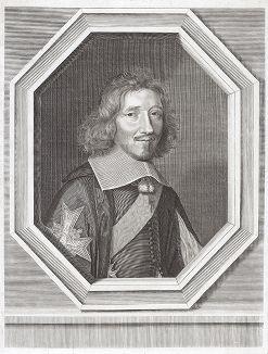 Мишель Летелье (1603--1685) - государственный секретарь, канцлер и хранитель печати Франции при Людовике XIV. Портрет авторства лучшего французского гравера-портретиста XVII века Робера Нантёйля.
