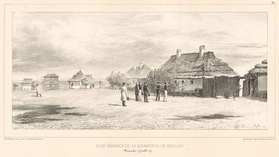 24 июля 1837 года. Пограничный переход (карантин) в Скулани (Молдавия) (из Voyage dans la Russie Méridionale et la Crimée... Париж. 1848 год (лист 26))