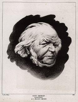 Портрет Оноре Домье (1808-1879) работы Феликса Валлотона, 1894 год.