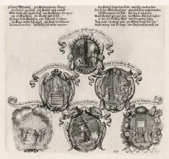 """Шесть сцен из """"Деяний апостола Павла"""" (из Biblisches Engel- und Kunstwerk -- шедевра германского барокко. Гравировал неподражаемый Иоганн Ульрих Краусс в Аугсбурге в 1700 году)"""