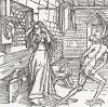 """Кокетка (иллюстрация к книге """"Рыцарь Башни"""", гравированная Дюрером в 1493 году)"""